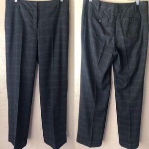 Ann Taylor Charcoal Gray Plaid Trouser Dress Pants